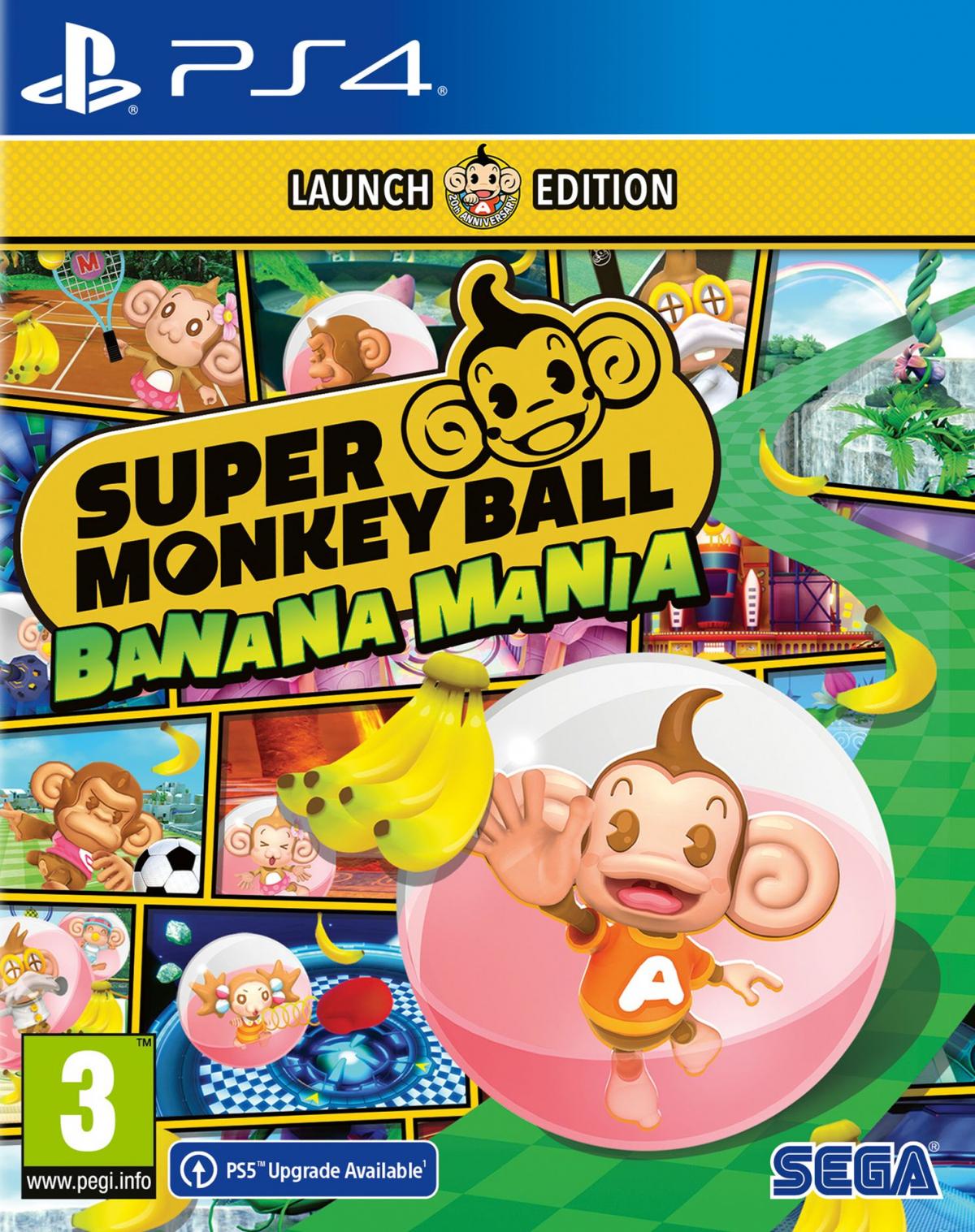 PS4 Super Monkey Ball Banana Mania Launch Edition
