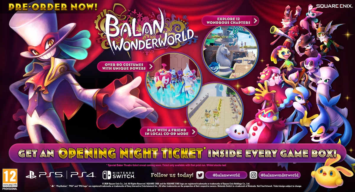 Switch Balan Wonderworld + Pre-Order Bonus