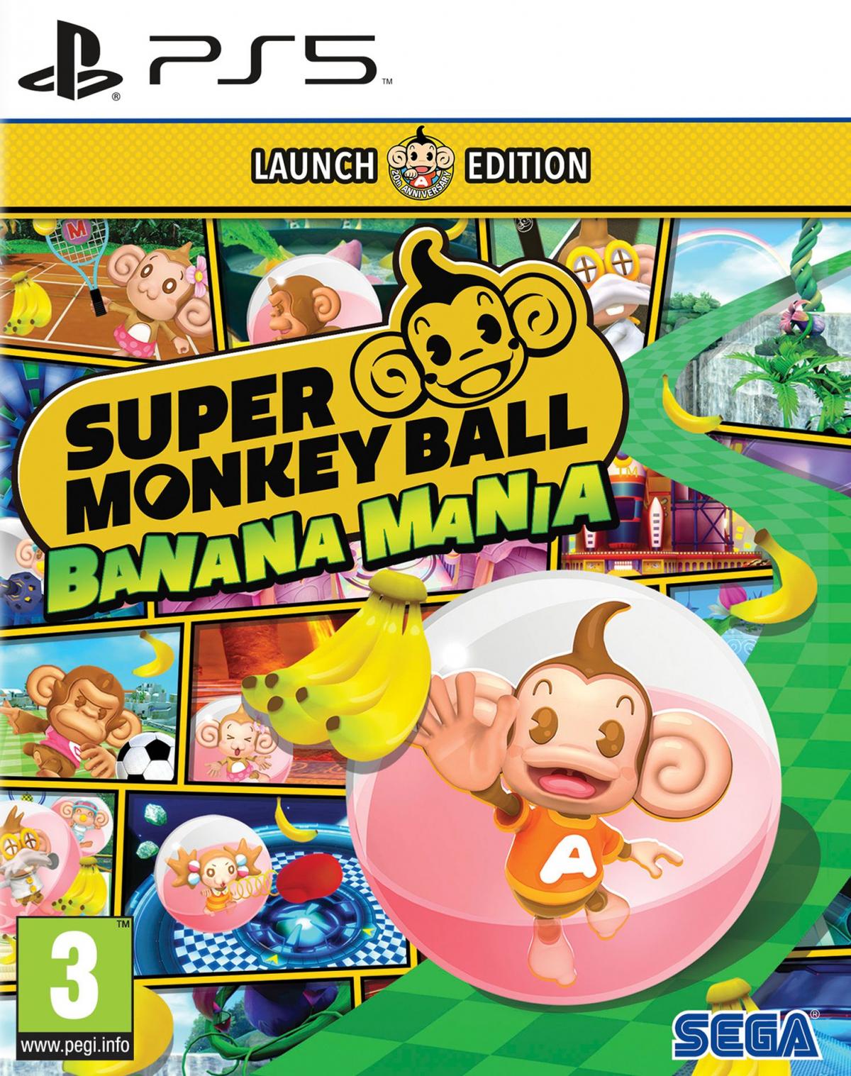 PS5 Super Monkey Ball Banana Mania Launch Edition