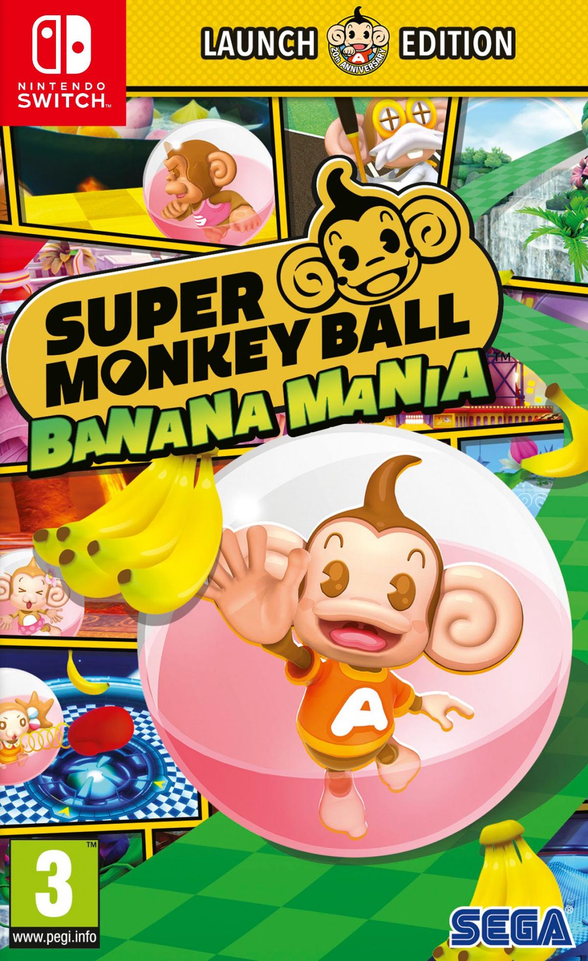 Switch Super Monkey Ball Banana Mania Launch Edition